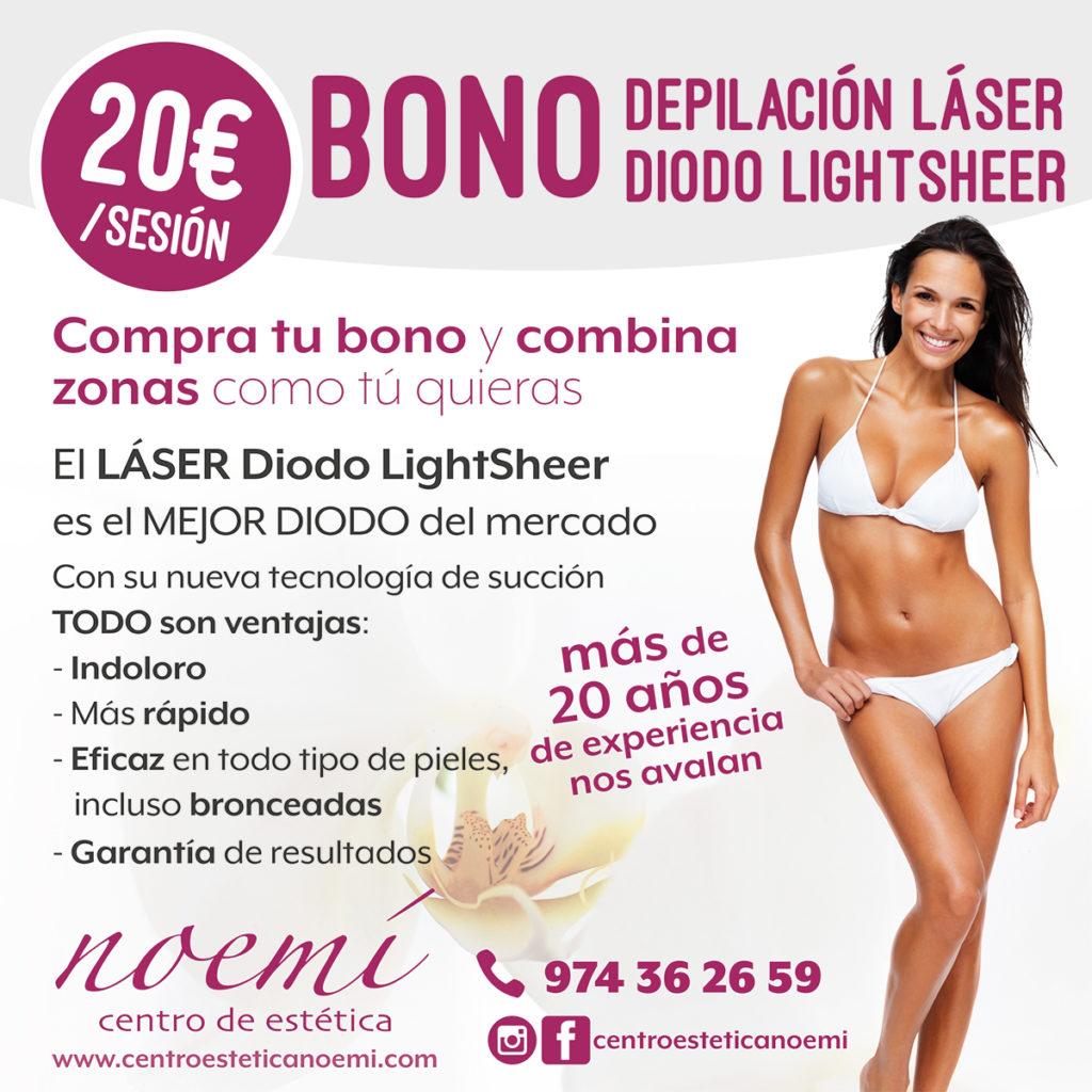 No te pierdas la nueva oferta de depilación láser diodo LightSheer . Compra tu bono a 20 € la zona y combina zonas como tu quieras...